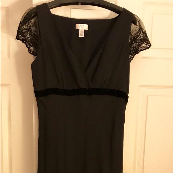 LOFT Dresses & Skirts - Long Lace and Silk Dress